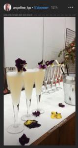 cocktail à base de sirop de rose et de rhubarbe pour les comité des Floralies à Nantes