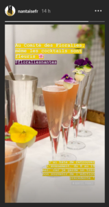 cocktail pour les floralies de Nantes